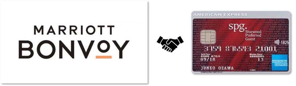 マリオットボンヴォイとSPGアメックスのロゴ
