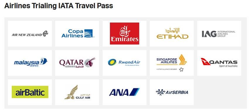 IATAトラベルパスの実証実験をする航空会社