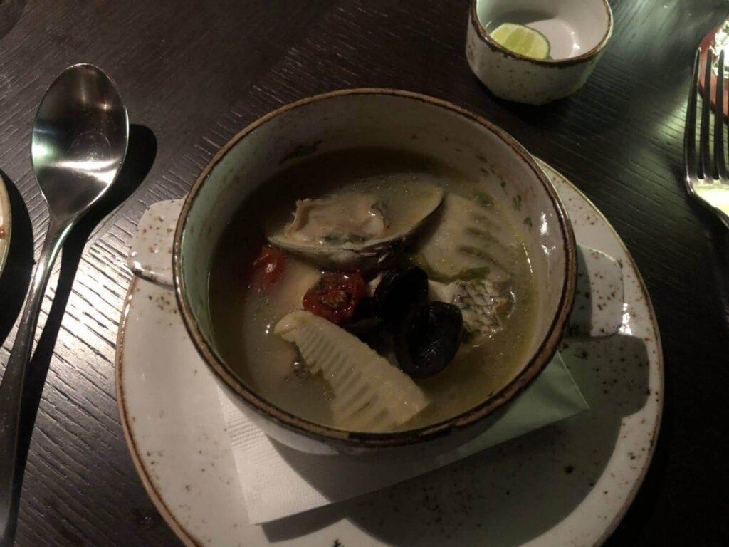桜鯛と蛤 青海苔のアクアパッツァ