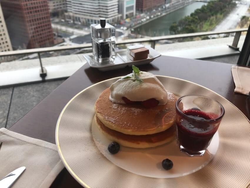 パレスホテル朝食パンケーキ