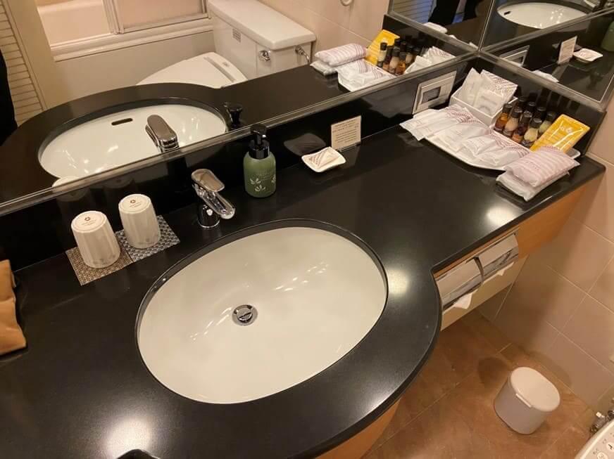 ホテルオークラ福岡洗面台